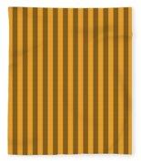 Orange Striped Pattern Design Fleece Blanket