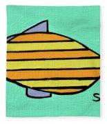 Orange Stripes Fleece Blanket