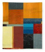 Orange Study With Compliments 3.0 Fleece Blanket