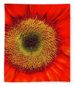 Orange Sunflower Fleece Blanket
