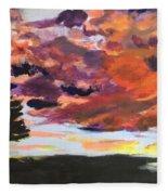 Orange Sunset Spectator Fleece Blanket