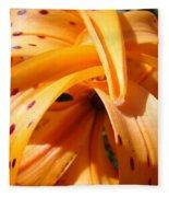 Orange Tiger Lily Flower Art Prints Giclee Baslee Troutman Fleece Blanket