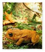 Orange Toad Fleece Blanket