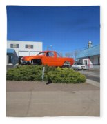 Orange Truck Fleece Blanket