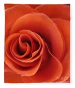Orange Twist Rose 5 Fleece Blanket