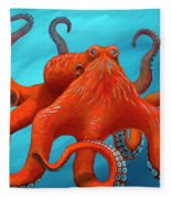 Orange-u-gr-8 Fleece Blanket