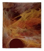 Orange With Texture Fleece Blanket