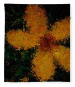 Orange-yellow Flower Fleece Blanket