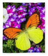 Orange Yellow Wings Fleece Blanket