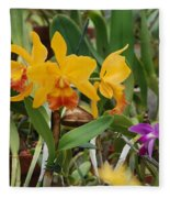 Orangepurple Orchids Fleece Blanket