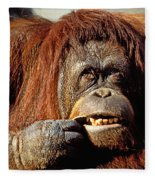 Orangutan  Fleece Blanket