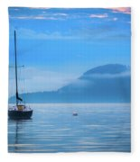 Orcas Sailboat Fleece Blanket