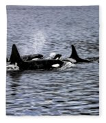 Orcas, The Killer Whales Fleece Blanket