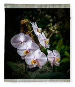 Orchid 1 Triptych Fleece Blanket