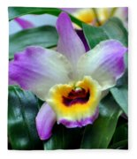 Orchid 34 Fleece Blanket
