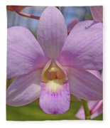Orchid Flower Fleece Blanket