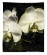 Orchid In White Fleece Blanket