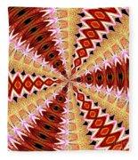 Orchid Kaleidoscope 8 Fleece Blanket