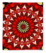 Orchid Kaleidoscope 9 Fleece Blanket