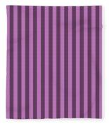 Orchid Purple Striped Pattern Design Fleece Blanket