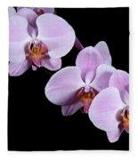 Pink Orchid I Fleece Blanket