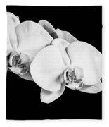 Orchid - Bw Fleece Blanket