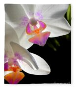Orchid Spring Fleece Blanket