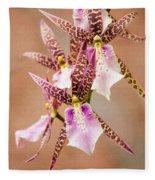 Orchid Stars Fleece Blanket
