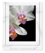 Orchid Underneath Poster Fleece Blanket