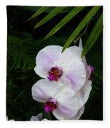 Orchids #1 Fleece Blanket