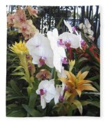 Orchids And Iron Fleece Blanket