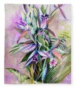 Orchids- Botanicals Fleece Blanket