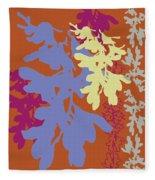 Orchids Caramel Fleece Blanket