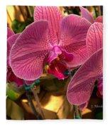 Orchids In Bloom Fleece Blanket