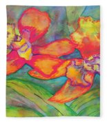 Orchids In Paradise Fleece Blanket