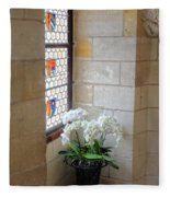 Orchids In The Chateau Fleece Blanket