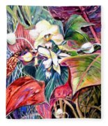 Orchids In White Fleece Blanket
