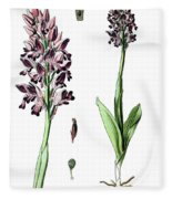 Orchis Militaris, The Military Orchid Fleece Blanket