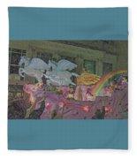 Order Of Polka Dots Emblem Float - Side View - Colored Pencil Fleece Blanket