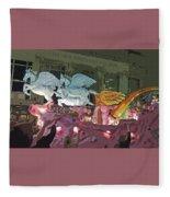 Order Of Polka Dots - Side View -- Cutout Fleece Blanket