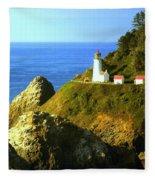 Oregan Lighthouse Fleece Blanket