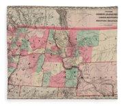 Oregon And Washington Territory Fleece Blanket
