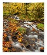 Oregon Autumn Beauty Fleece Blanket