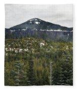 Oregon Cascade Range Forest Fleece Blanket
