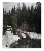 Oregon Cascade Range River Fleece Blanket