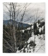 Oregon Cascade Range Trees Fleece Blanket