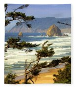 Oregon Coast 15 Fleece Blanket