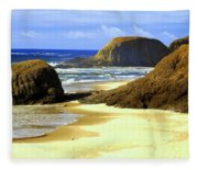 Oregon Coast 18 Fleece Blanket