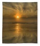 Oregon Coast Sunset Fleece Blanket