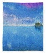 Oregon Coast Twilight Fleece Blanket